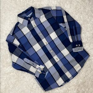 Blue Checkered Button Up FFF23